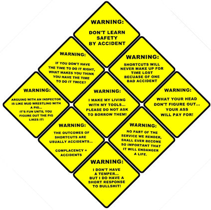 tnt 8 inch funny laminated warning signs your choice