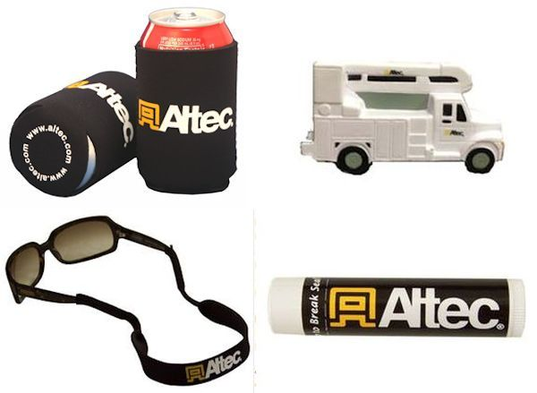 Altec Novelty Gifts for electrical power linemen, tree trimmers, others who love their bucket and auger trucks, cranes, etc!